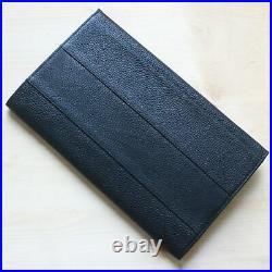 Wancher Japan Genuine Leather Handmade Fountain Pen Case 12 Pens Black New