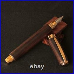 Woodcraft Kenichi Handmade Made in Japan Ebony Fountain Pen M F/SA from Japan