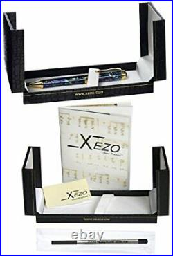 Xezo Handmade Natural Paua Sea Shell Abalone Ballpoint Pen 18K Gold Plated. D