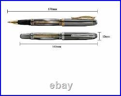 Xezo Handmade Platinum Plated Rollerball Pen, Metallic Finish Maestro Black