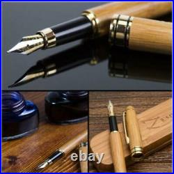 ZenZoi Fountain Pen Ink Set with Case Handmade Bamboo Vintage